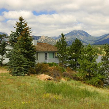 Many cabins and condos in Estes Park provide mountain views.