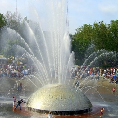 The International Water Fountain is just one of the many attractions at Seattle Center in downtown.