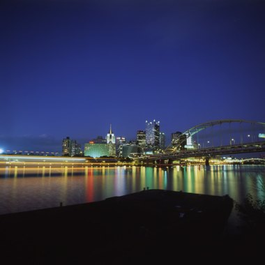 The Monongahela River separates downtown Pittsburgh from the Southside.