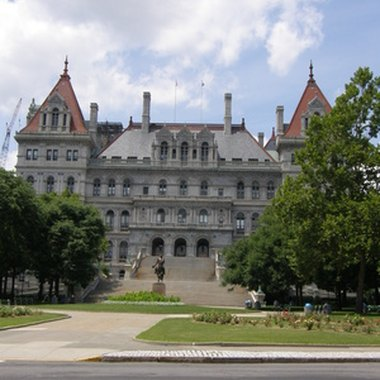 Luxury hotels in downtown Albany, New York, cater to business travelers and tourists.