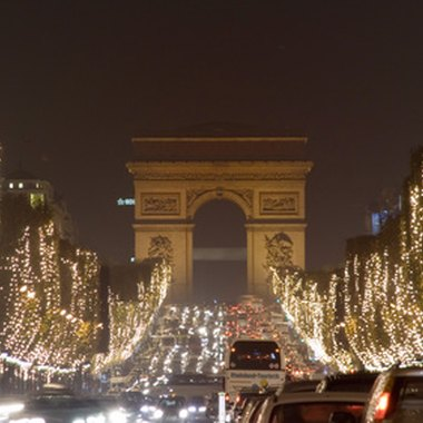 The Champs Elysees -- here decorated for Christmas -- is minutes from rue Chateaubriand.