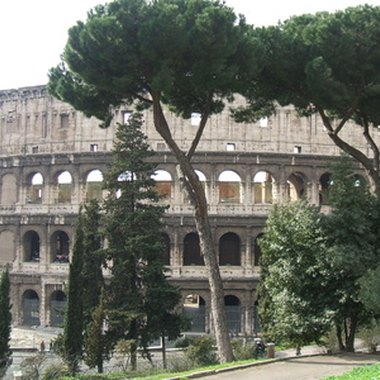 A view of the Coliseum in Rome