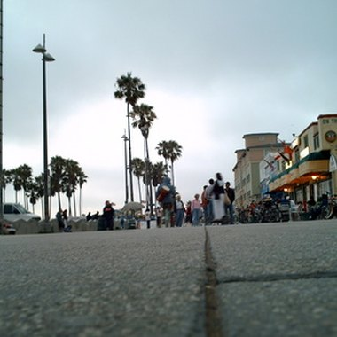 Venice Beach is known for its beachfront walkway.
