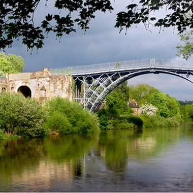 Telford's Ironbridge in Shropshire, built in 1779, was a wonder of its age.