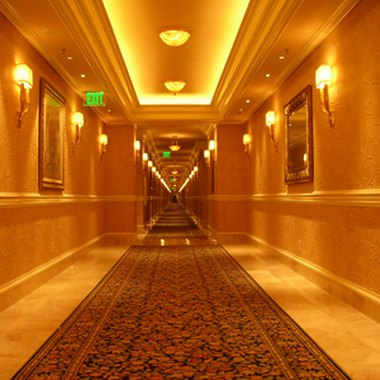 Many Las Vegas hotels contain thousands of rooms.