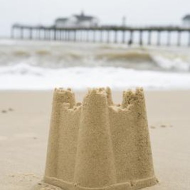 Take the sand castle from the beach to your home.