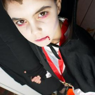 Vampire costumes are an old standby for trick-or-treaters.