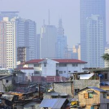 Well-known sights in Makati City include its financial district skyline.
