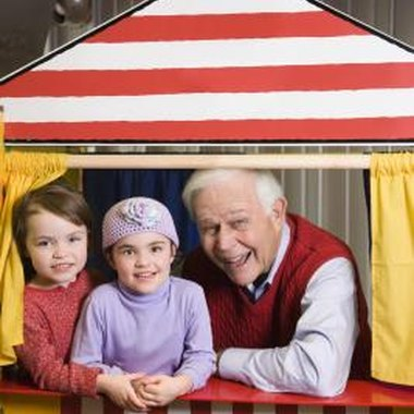 Create a playful puppet theater.