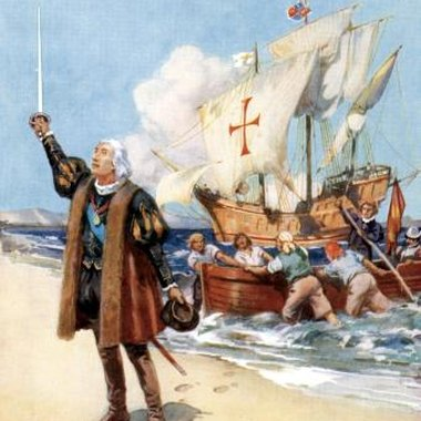 Christopher Columbus arrived in the Bahamas on Oct. 12, 1492.