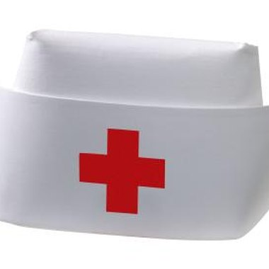 A paper nurse's hat will make the costume immediately identifiable.