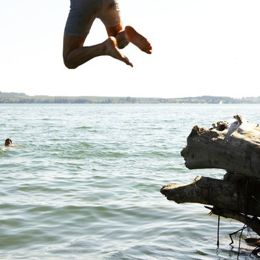 Jump off the Clarks Bridge Park swimming platform to enhance your swimming experience.