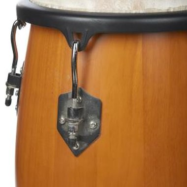 A drum consists of a drumhead that the performer strikes.