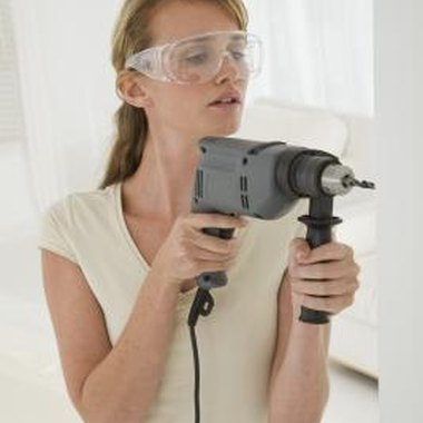 Protect your eyes and lungs with goggles and masks when working with acrylic.