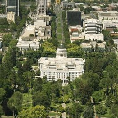 The California State Capitol building in the heart of Sacramento.