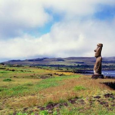 Easter Island is most famous for its numerous stone statues.