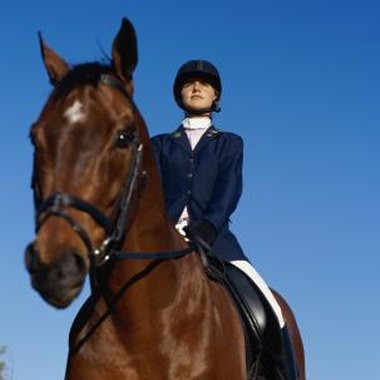Equestrians wear stock ties during competition.