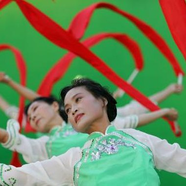 The ribbon dance symbolizes Chinese culture.