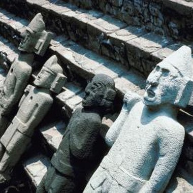 The Aztec civilization fell in the 16th century when the Spanish arrived.