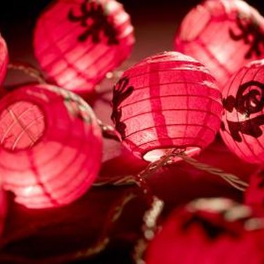 Chinese lanterns are a must at a Chinese-themed party.