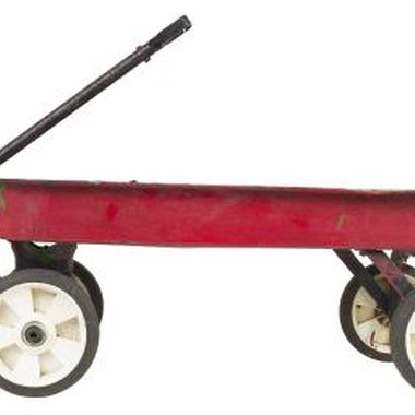 A typical child's wagon can be turned into a unique parade entry.