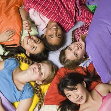 Plan sleepover games for a slumber party for a group of preteens.
