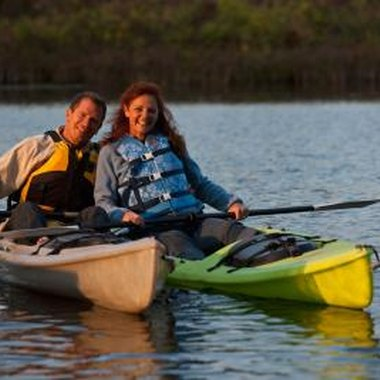 Couples kayaking is one of many adventure options for paddling in Ontario.