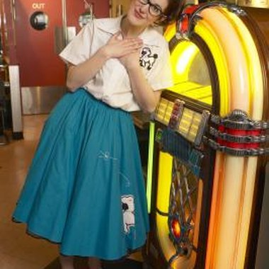Make your own poodle skirt for a milk bar party.