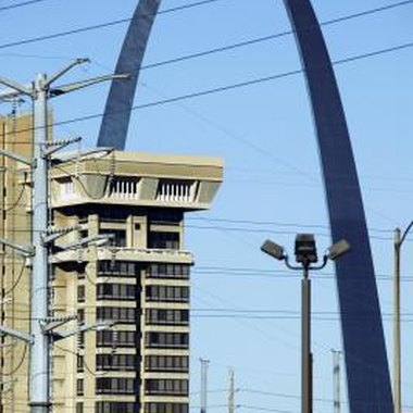The Gateway Arch in St. Louis, Missouri, a city that enjoys many ghost stories.
