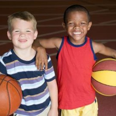 Basketball camps offer children an opportunity to improve their skills.