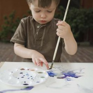 Let toddlers learn about the creation story through craft projects.