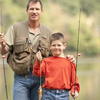 Use a bobber for fishing with preschoolers.