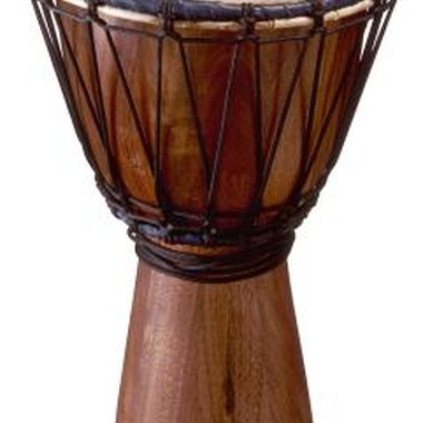 African drums are usually played with the hands only.
