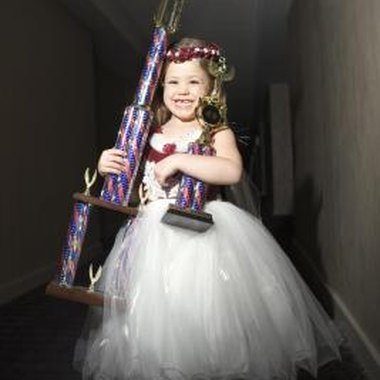 Pageant winners can win trophies, crowns and tiaras
