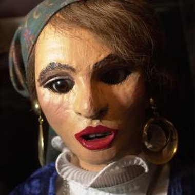 Folk art dolls often have a slightly rough look.