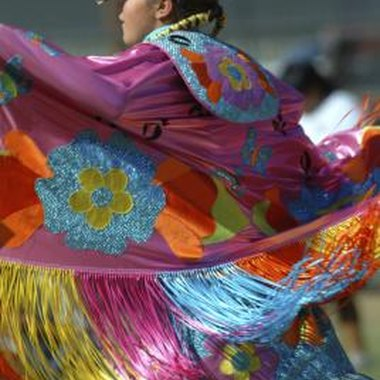 The movement and colors of the shawl are the highlights of the Fancy Shawl dance.