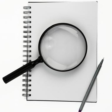 Party guests can use magnifying glasses to figure out clues.