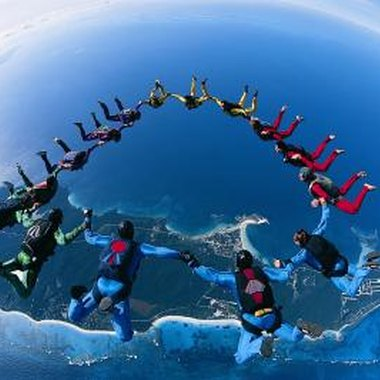 A world record 400-way synchronized skydive was successfully executed in February 2006.