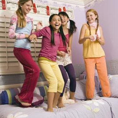 Jumping places are better options for bouncing parties than your child's bed.