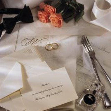 Ensure your RSVP invitations clearly outline the date and location of your wedding.