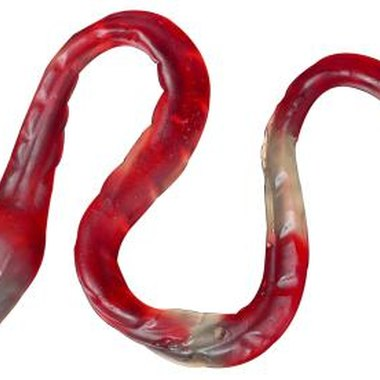 Gummy snakes are a must-have at a party featuring snakes.