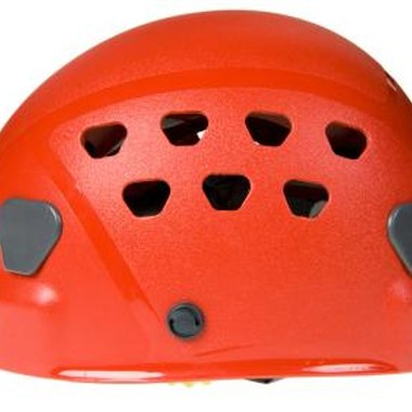 Wear a helmet to protect yourself from debris disturbed by hikers on the trails above Crow Hill Ledge.