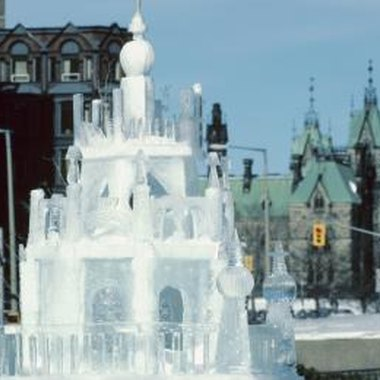 Decorate ice sculptures with ornate pieces such as icicles.