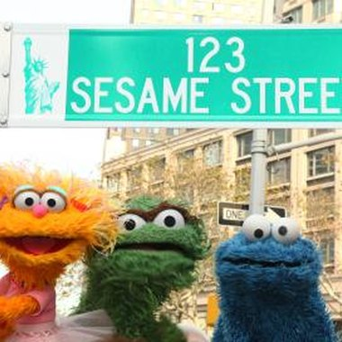 Invite guests to a baby shower on Sesame Street.