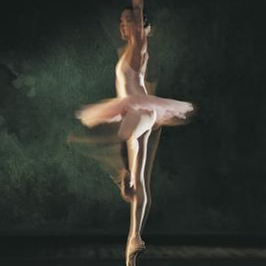 Ballet dancers perform complicated footwork and acrobatics with grace.