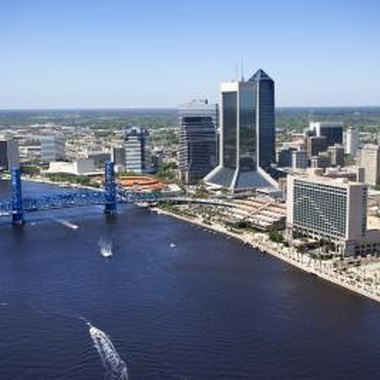 The St. Johns River cuts through the middle of downtown Jacksonville.