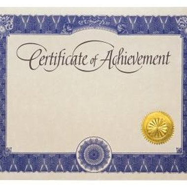 Learn how to customize a certificate for dance achievement.