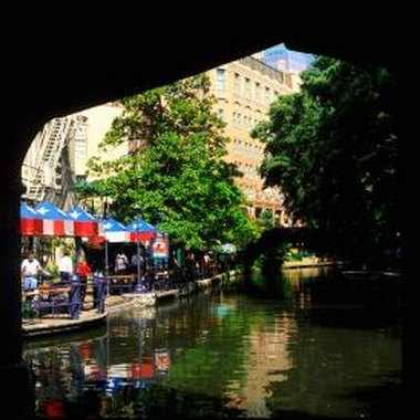Many hotels in San Antonio are a short drive or walk from the San Antonio River Walk.