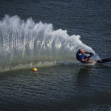 A wake surf board is much like a single ski except that it's much wider.