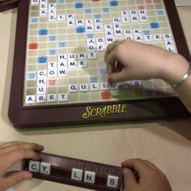 A Scrabble board game can serve as the theme for a fun party.